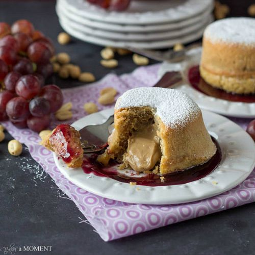 10 delicious twists on peanut butter and jelly- lava cakes