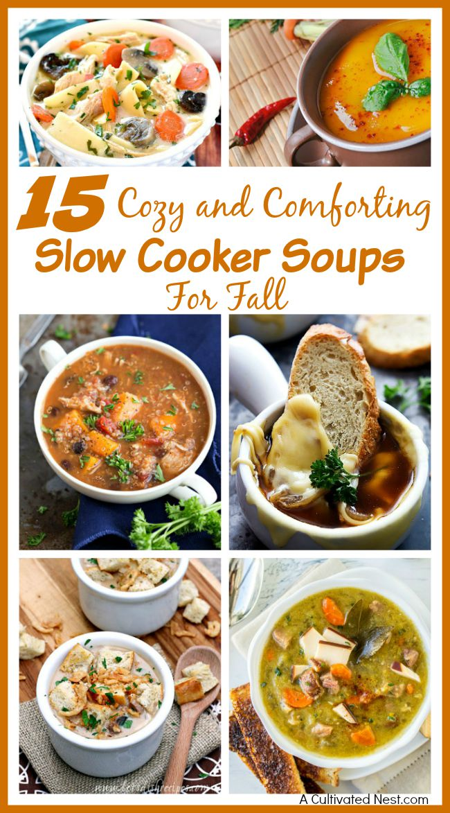 15 cozy slow cooker soups