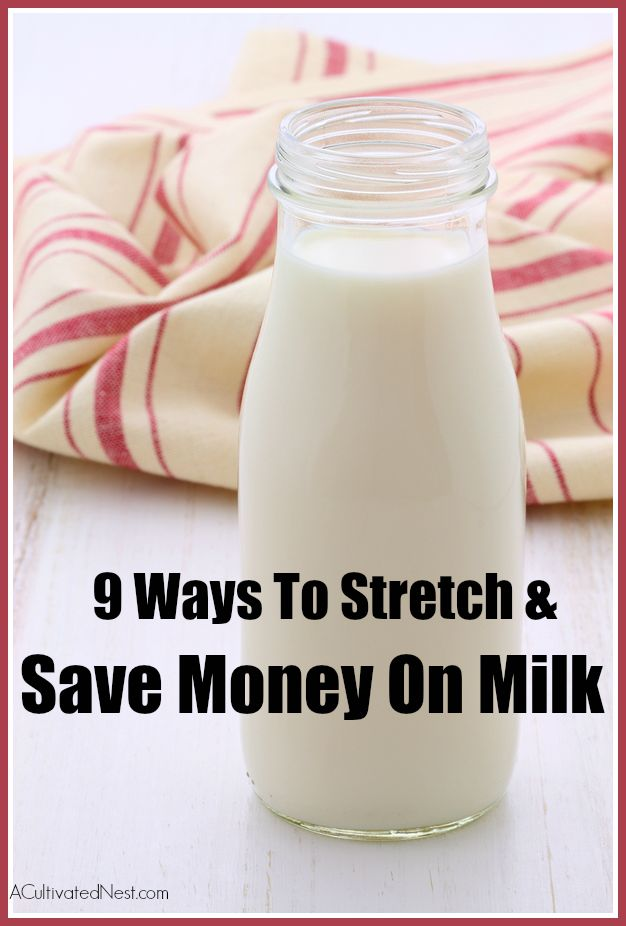 How to Save Money On Milk With the cost of a gallon of milk as high as $4 in some areas, it is no wonder people are looking for some relief! If you need to stretch your milk supply out and find frugal ways to save money on it, take a look these great tips for stretching and saving money on milk!