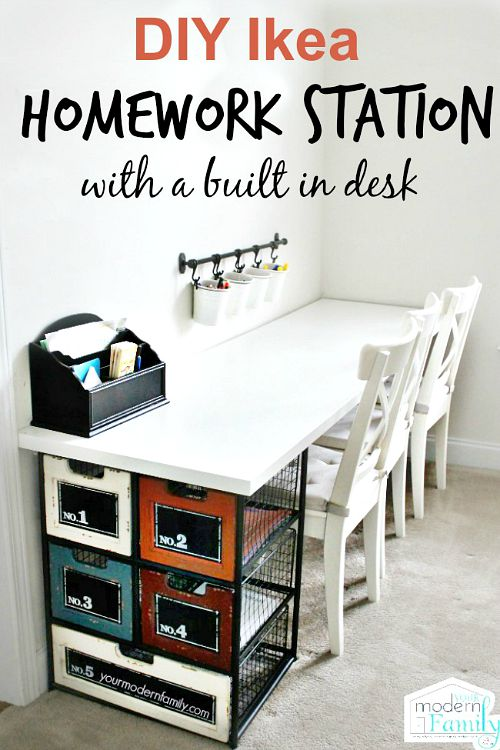 10 useful back to school organization ideas- homework station