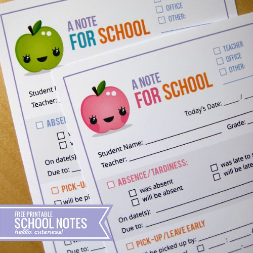 10 useful back to school organization ideas- free printable school notes