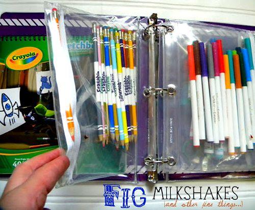 10 useful back to school organization ideas- school supply binder