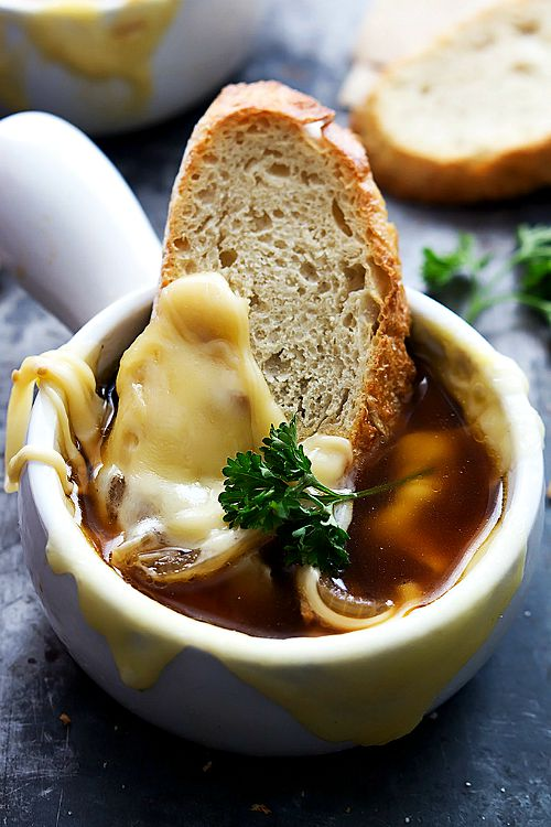 15 cozy and comforting slow cooker soups for fall- French Onion Soup