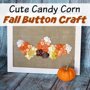 Cute Candy Corn Fall Button Craft