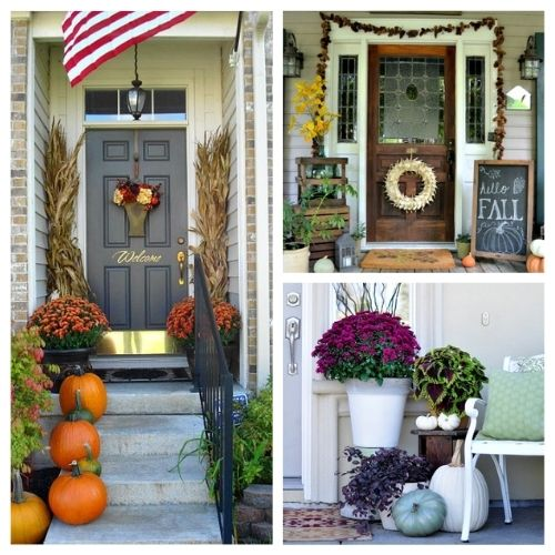 15 Fabulous Fall Front Porch Ideas- Unsure how to decorate your front porch for autumn? Take a look at these 15 fabulous fall front porch ideas and be inspired! | #fall #porchDecor #decorating #fallDecor #ACultivatedNest
