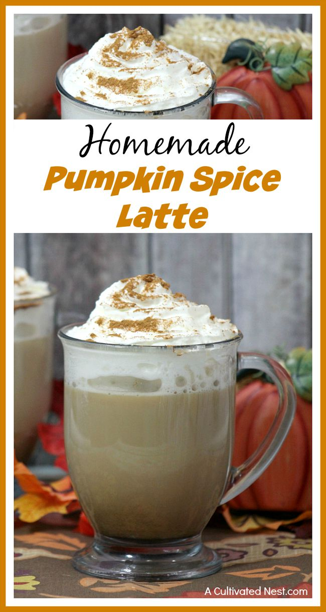 to get a delicious latte! Make your own homemade pumpkin spice latte ...