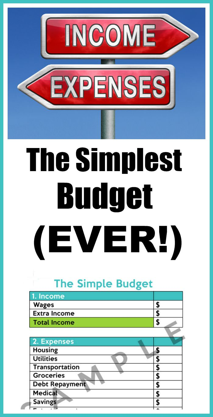 how to make the simplest budget ever