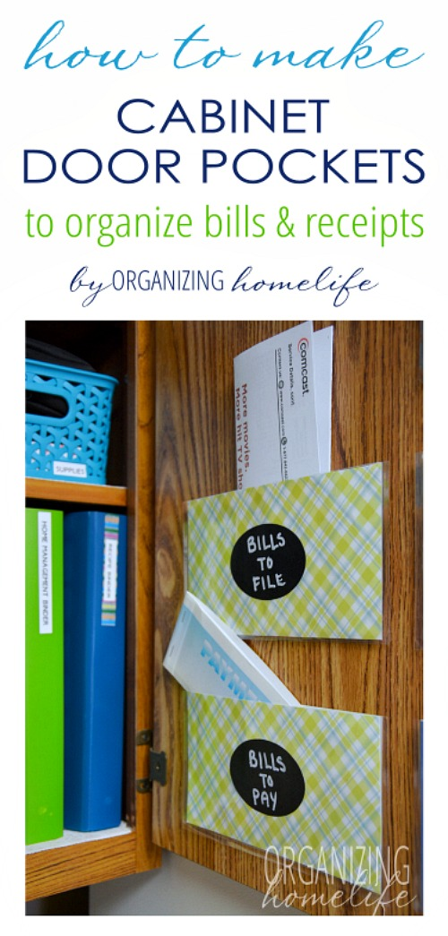 How to Organize Your Bills and Receipts- Overwhelmed by all the mail and documents you have to keep organized every day? De-clutter and de-stress your life with one of these 10 handy ways to organize your personal papers! home paperwork, organizing ideas, office organization, paper organizing ideas, decluttering tips #organizingTips #decluttering #ACultivatedNest