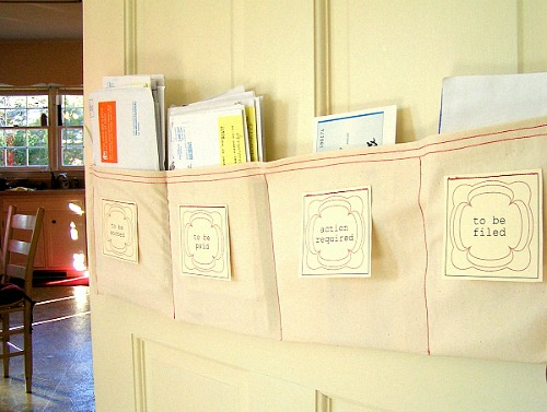 DIY Mail Sorter Organizer- Overwhelmed by all the mail and documents you have to keep organized every day? De-clutter and de-stress your life with one of these 10 handy ways to organize your personal papers! home paperwork, organizing ideas, office organization, paper organizing ideas, decluttering tips #organizingTips #decluttering #ACultivatedNest