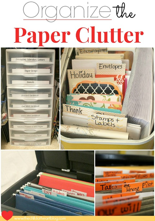 Reduce Paper Clutter- Overwhelmed by all the mail and documents you have to keep organized every day? De-clutter and de-stress your life with one of these 10 handy ways to organize your personal papers! home paperwork, organizing ideas, office organization, paper organizing ideas, decluttering tips #organizingTips #decluttering #ACultivatedNest