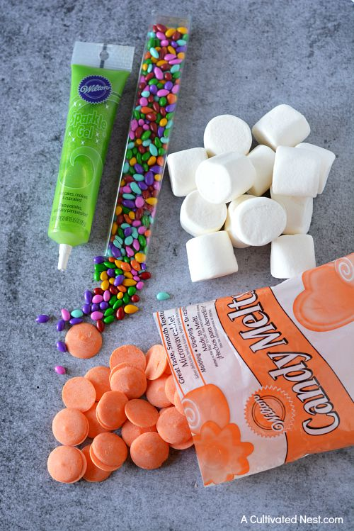 Pumpkin marshmallow bites ingredients