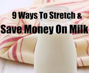 9 Ways to Stretch and Save Money On Milk