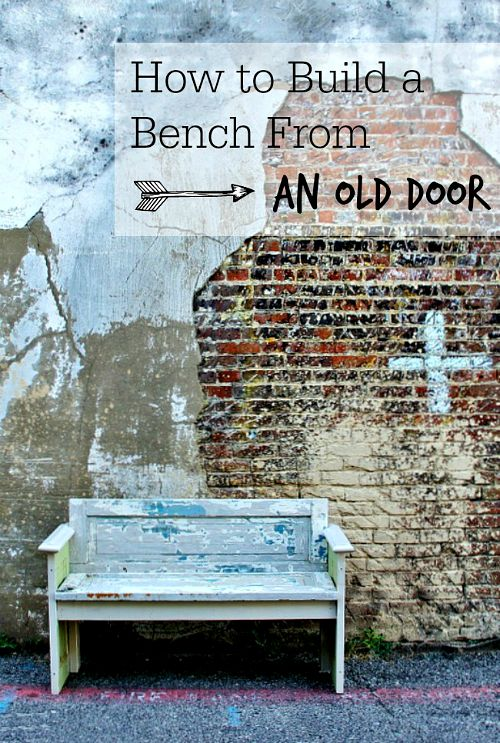 10 Creative Upcycled Door DIY Projects- Bench