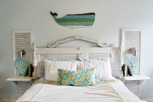 10 Creative Upcycled Door DIY Projects- Headboard