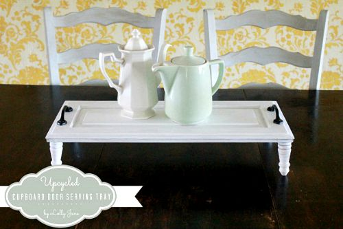 10 Creative Upcycled Door DIY Projects- Serving Tray