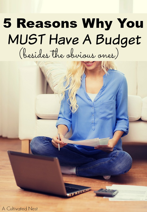 5 Reasons Why You MUST Have a Budget