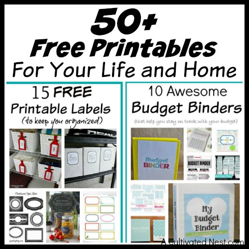 image about Free Printables for Home referred to as 50+ Cost-free Printables for Your Lifetime and Property