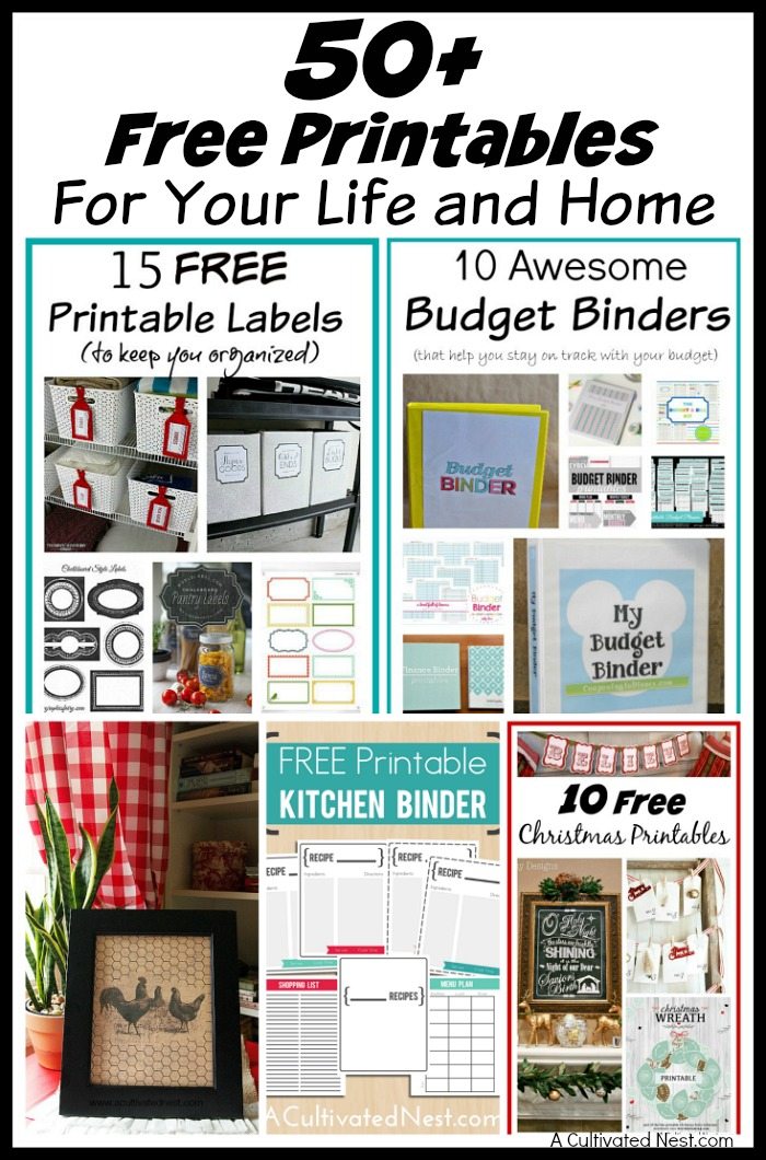 graphic about Free Printables for Home identified as 50+ No cost Printables for Your Existence and Dwelling