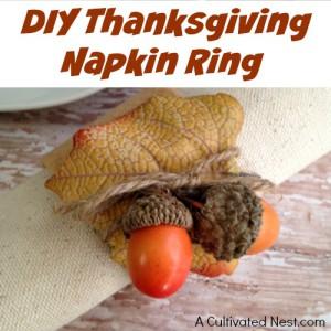 Cute DIY Thanksgiving Napkin Ring