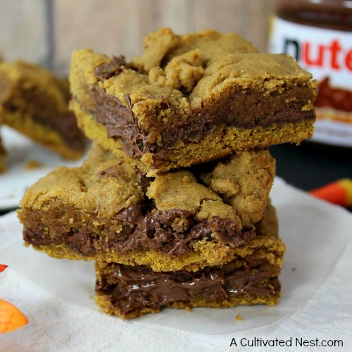 Delicious pumpkin Nutella bars