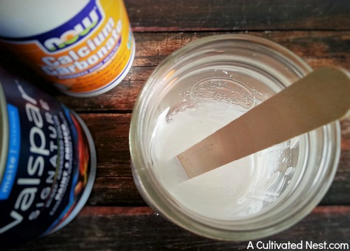 Easy DIY chalky paint