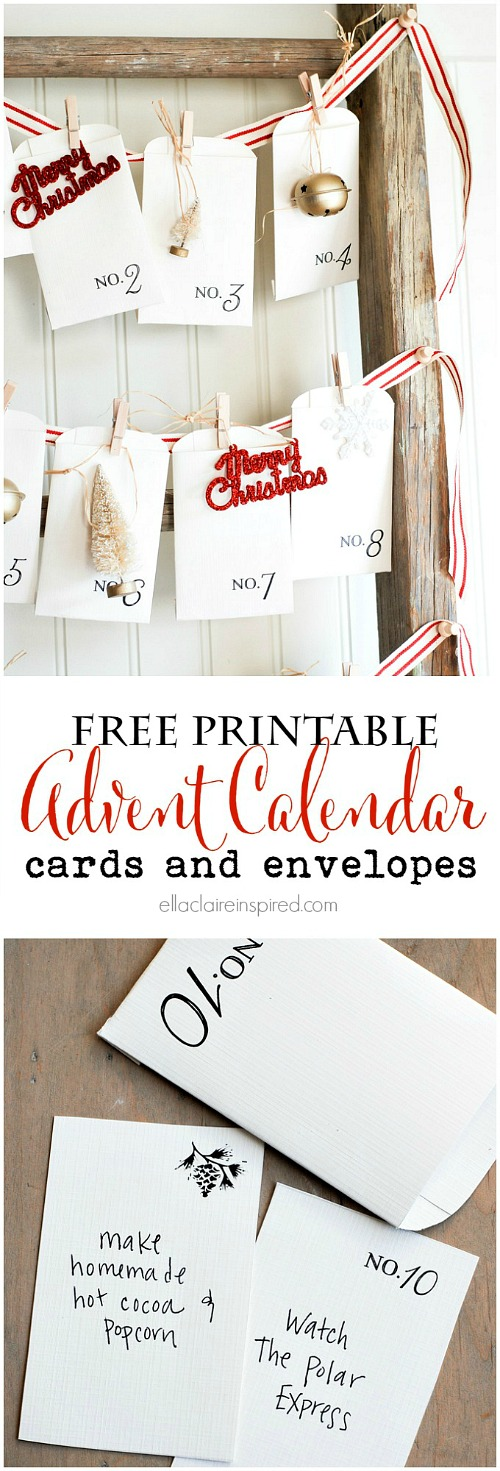 Christmas Advent Calendar Free Printable