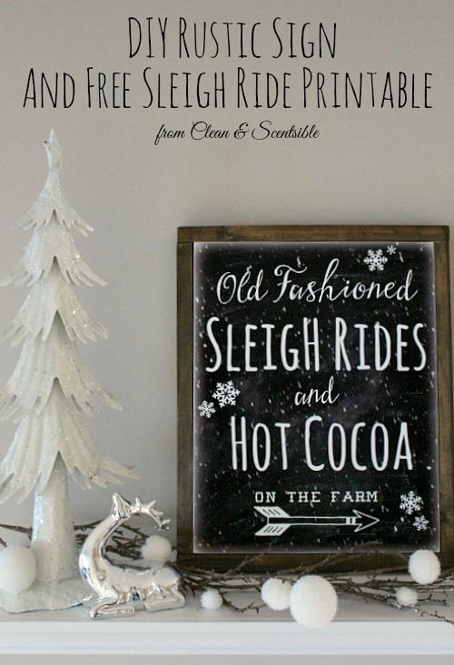 Old Fashioned Sleigh Rides Free Printable Christmas Art