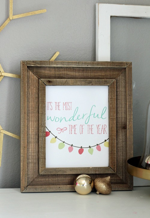 It's the Most Wonderful Time of the Year Free Printable Christmas Art
