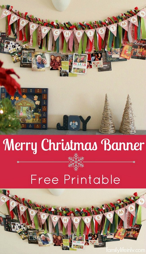 Merry Christmas Banner Free Printable