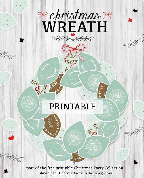 Christmas Wreath Free Printable