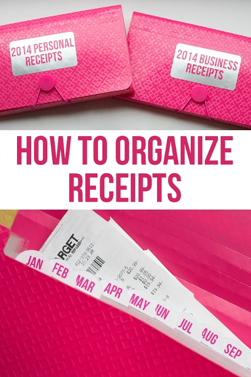 Organize Your Receipts- Overwhelmed by all the mail and documents you have to keep organized every day? De-clutter and de-stress your life with one of these 10 handy ways to organize your personal papers! home paperwork, organizing ideas, office organization, paper organizing ideas, decluttering tips #organizingTips #decluttering #ACultivatedNest