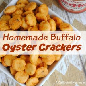 Homemade Buffalo Oyster Crackers