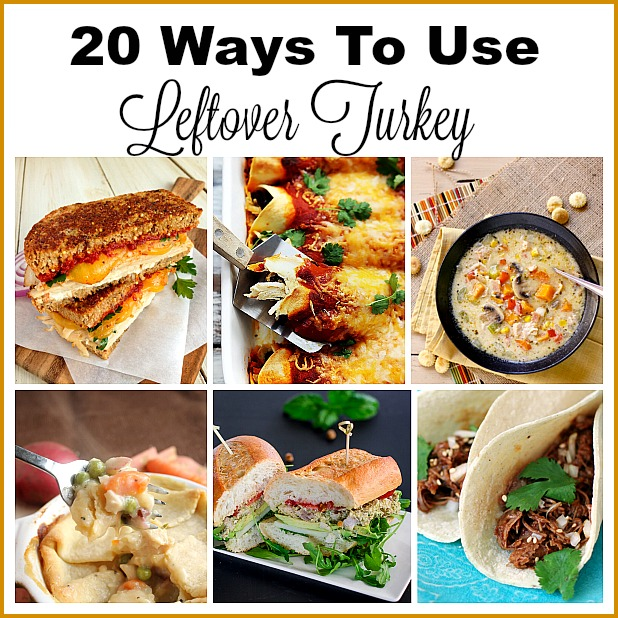 20 Ways To Use Leftover Turkey- Leftover turkey doesn't mean you have to eat only turkey sandwiches! For some different (and delicious) ways to eat up leftover turkey, try these recipes! | extra turkey, excess turkey, ways to use up leftover Thanksgiving turkey, Christmas turkey, turkey soup, turkey tacos, turkey casseroles, food, #recipe #turkey #ACultivatedNest