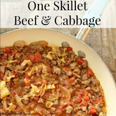 One Skillet Beef and Cabbage