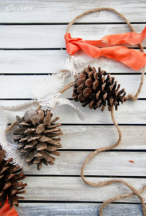 Pinecone Garland Craft