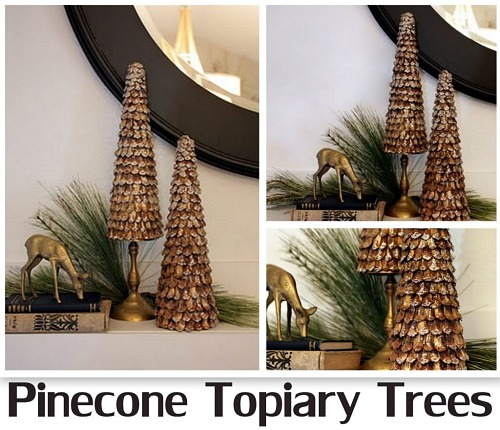 DIY Pinecone Topiary Trees