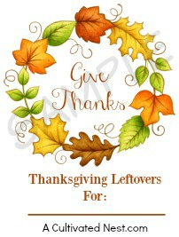 Thanksgiving Leftovers Free Printable Tag Preview