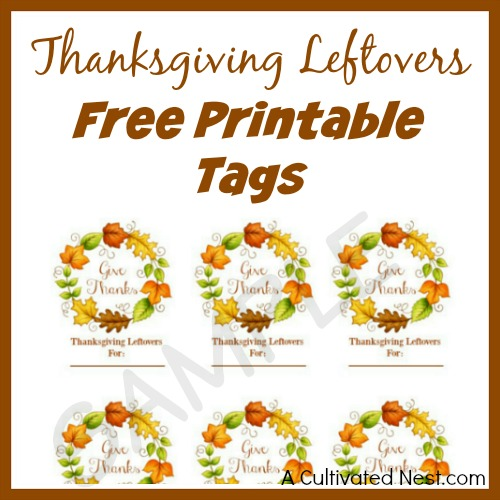 Free Printables for a Stress-Free Thanksgiving- Have a stress-free Thanksgiving this year with the help of this free printable Thanksgiving meal planner! Free printable wall art is also included! | Thanksgiving planner, #freePrintable #Thanksgiving #ACultivatedNest