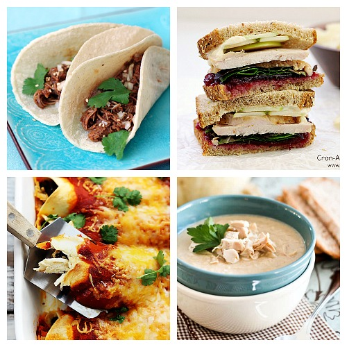 20 Different Ways to Use Up Excess Leftover Thanksgiving Turkey- Leftover turkey doesn't mean you have to eat only turkey sandwiches! For some different (and delicious) ways to eat up leftover turkey, try these reicpes! | extra turkey, excess turkey, ways to use up leftover Thanksgiving turkey, Christmas turkey, turkey soup, turkey tacos, turkey casseroles, food, #recipe #turkey #ACultivatedNest