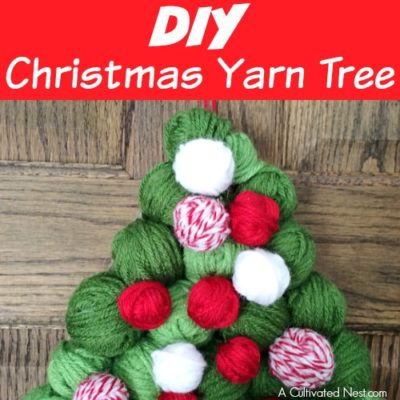 DIY Christmas Yarn Tree