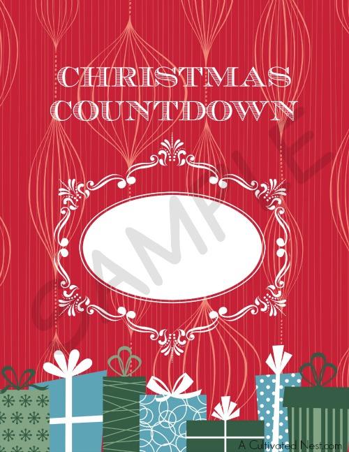 DIY dry erase Christmas countdown with free printable
