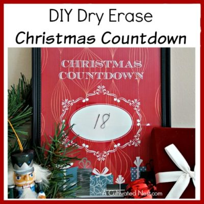 DIY Dry Erase Christmas Countdown with Free Printable