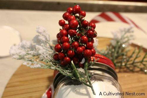 Holiday Mason jar cocoa mix