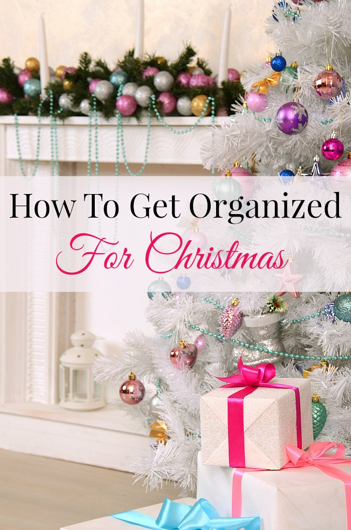 How To Get Organized For Christmas- Want to finally have a stress-free Christmas? All you need to do is a little planning and organizing! Take a look at these tips on how to get organized for Christmas! | organizing tips, organization, stress-free Christmas, less stress this Christmas, organizing for the holidays, #Christmas #organizingTips #ACultivatedNest