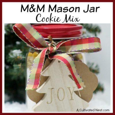 M&M Mason Jar Cookie Mix Recipe