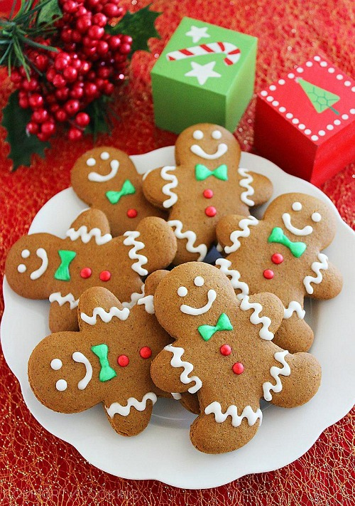 10 Yummy Christmas Cookie Recipes- Spiced Gingerbread Man Cookies