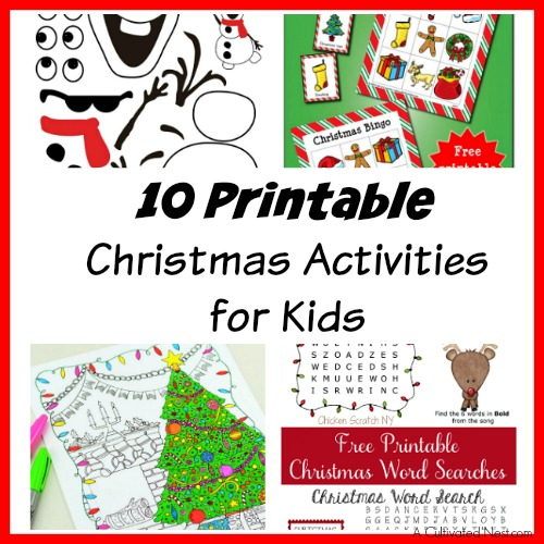 graphic relating to Free Printable Christmas Puzzles called 10 Printable Xmas Routines for Young children