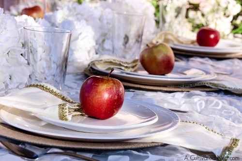 All-White thrifty tablescape for under $20