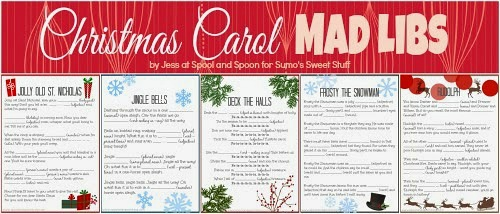 Christmas Carol Mad Libs Printables
