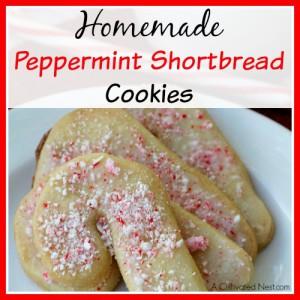 Homemade Peppermint Shortbread Cookies